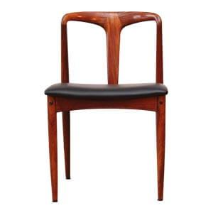Modern Style Dining Chair with Curved Wooden Back