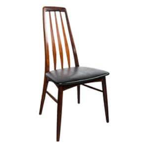 Modern Style Slant Back Dining Chair with Slatted Back