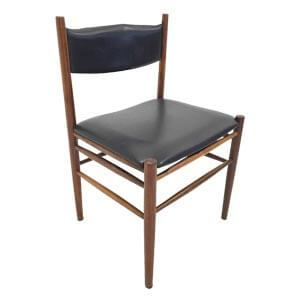 Transitional Style Wooden Dining Chair with Box Stretchers