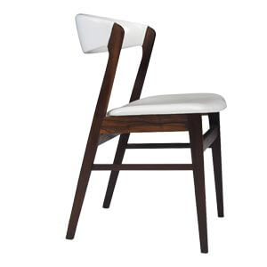 Contemporary Style Dining Chair with Curved Back for Extra Comfor...