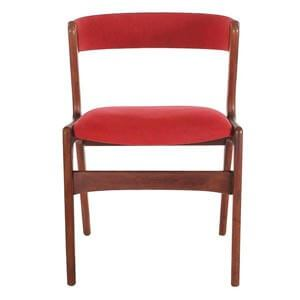 Modern Style Dining Chair with Curved back and Smooth Finish