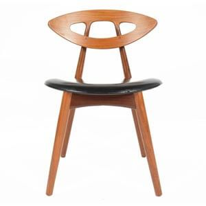 Modern Eye Dining Chair with Leatherette Upholstery