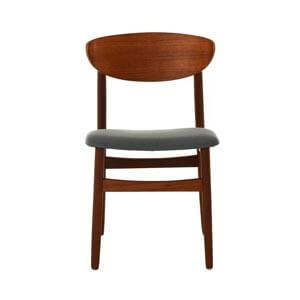 Modern Dining Chair with Curved Wooden Back