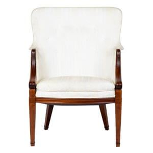 Traditional Wingback Chair with Classic Design Details