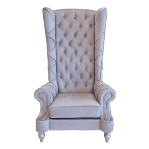 Classic Style Highback Regal Chair in Rich Grey