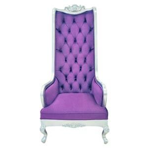 Rich Purple Classic Chair in Highback Style