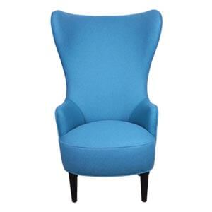 Retro Style Wingback Chair with Plush Cushioning