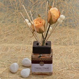 Cranberry Coloured Aromatic Diffuser with Pearl Sticks