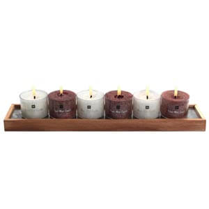 Aroma candles with a Decorative Stones-Brown and White