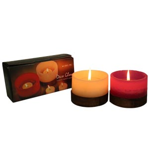 Aroma Lantern Candles Twin Scented Set