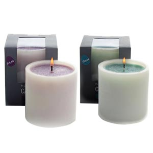 Aroma Candles with Double colours in Large Size-Lavender and Ocea...