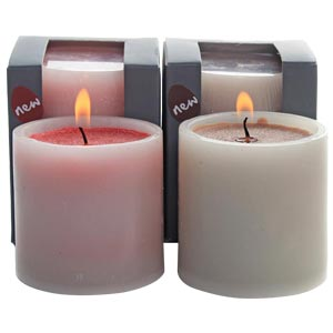 Aroma Candles with Double colours in Medium size-Rose and Coffee