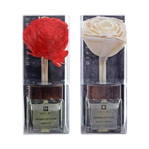 Aromatic Reed Diffusers Ceramic Pot in Hibiscus and White musk fl...