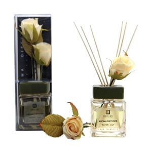 Evergreen Rose Flower Collection Diffuser Box with Water Lilly Fr...