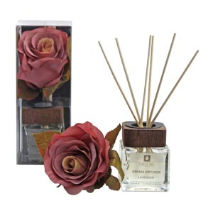 Evergreen Rose Flower Collection Diffuser Box with Lavender Fragr...