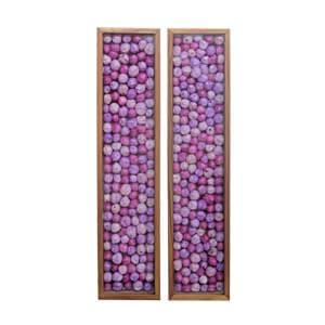 Lavender Floral Wall Frame in Set of Two