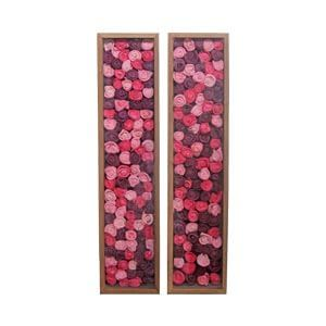 Rose Floral Wall Frame in Set of Two