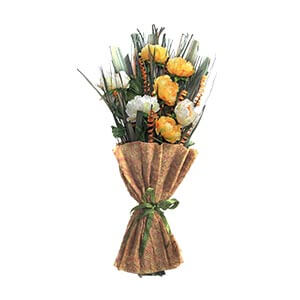 Gifting Floral bunch with Yellow Flowers Dried Botancials and Lea...