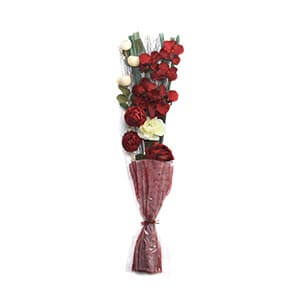 Decorative Floral Bouquet with Colourful Flowers and Dried Botani...