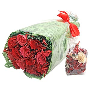 Rich Cluster of Floral Bouquet with Flowers and Dried Botanicals