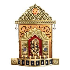 Devotional Lord Ganesha Decorative Wall Art with Om and Bells