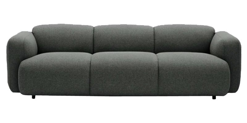 Contemporary Sofa With Minimal Cubus Seat
