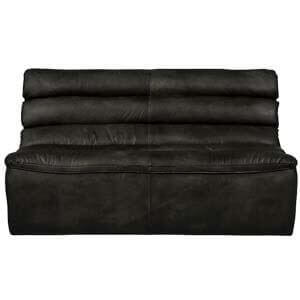 Contemporary Tightback Leather Loveseat with Deep Stitch