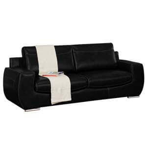 Modern 2 Seater Leatherette Loveseat with a Curvy Silhouette