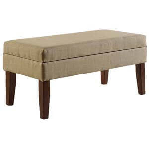 Contemporary Armless Fabric Upholstered Sofa Bench