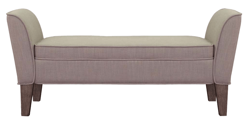 Modern Sofa Bench With Piping On Arms On Cushions