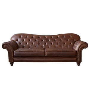Classic Leatherette 2 Seater Chesterfield Sofa with Stylish Serpe...