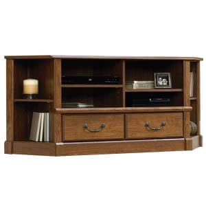 Transitional Entertainment Unit with Two Drawers and Metallic Pul...