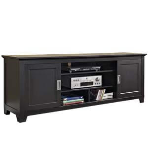 Transitional Entertainment Unit with Short Square Tapered Legs
