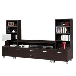 Contemporary Entertainment Unit with Four Large Drawers