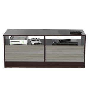 Contemporary Entertainment Unit with Two Drawers