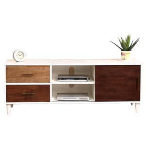Contemporary Entertainment Unit with Round Tapered Legs