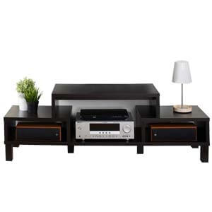 Contemporary Entertainment Unit with Straight Wooden Legs