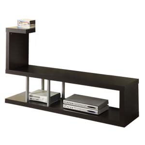Contemporary Entertainment Unit with Wooden Base