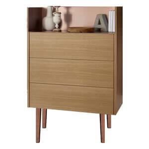 Contemporary Dresser with Sleek Metal Legs And Spacious Drawers