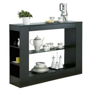 Contemporary Storage Sideboard with Thick Laminated Top with Flus...