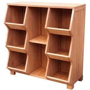 Modern Shoe rack with 6 Storage Cubbies