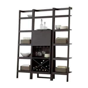 Contemporary Ladder Style Bar Unit with Open Storage