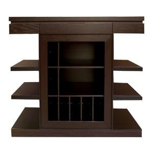 Contemporary T-shaped Bar Unit with Open Storage