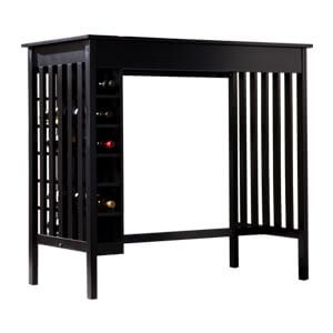 Contemporary Pub Table Bar Unit with Built-in Wine Storage