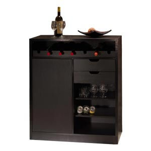 Contemporary Multi storage Bar Cabinet with 7 Bottle Racks