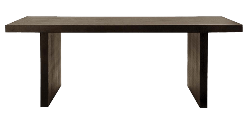 Contemporary 6 Seater Rectangular Dining Table With Straight Plank Legs