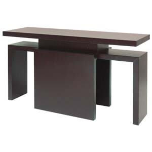 Contemporary M-shape Console Table with Plank Legs