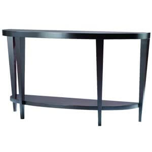 Contemporary Semi-Oval Console table with Tapered Legs