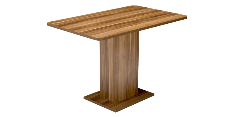 contemporary rectangular styled dining table that is pedestal based. Black Bedroom Furniture Sets. Home Design Ideas