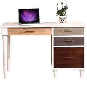 Modern Writing Desk with Round Tapered Legs